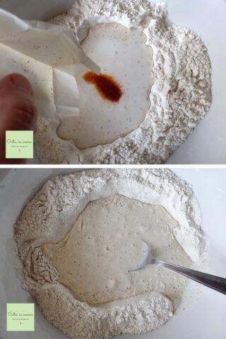 soda bread impasto con zafferano a freddo