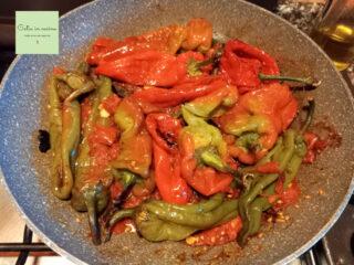 peperoni calabresi in cottura