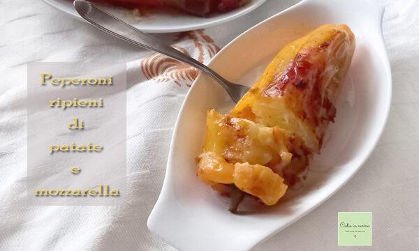 Peperoni ripieni di patate e mozzarella