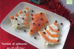 Tartine al salmone natalizie