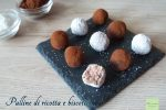 Palline di ricotta e biscotti
