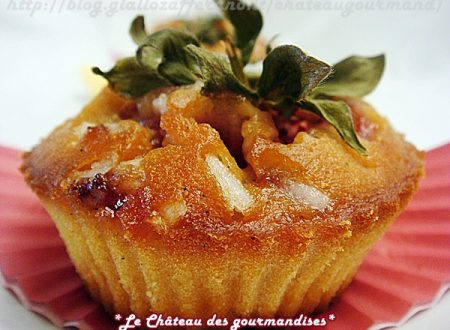 Muffins alle fragole caramellate e corn flakes (senza latticini)