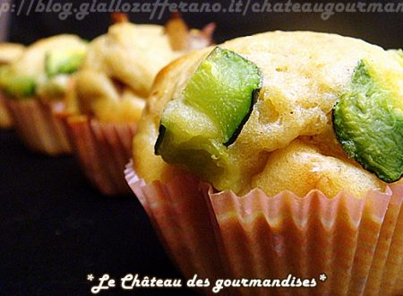 Muffins salati con farina di ceci, funghi e zucchine