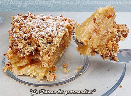 Crostata sbriciolata di pere e pompelmo