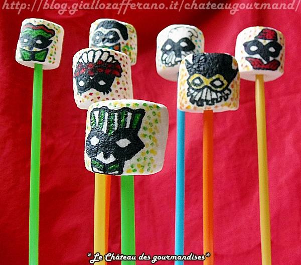 marshmallows pops di carnevale