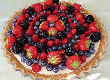 Cheesecake al lemon curd e frutti di bosco
