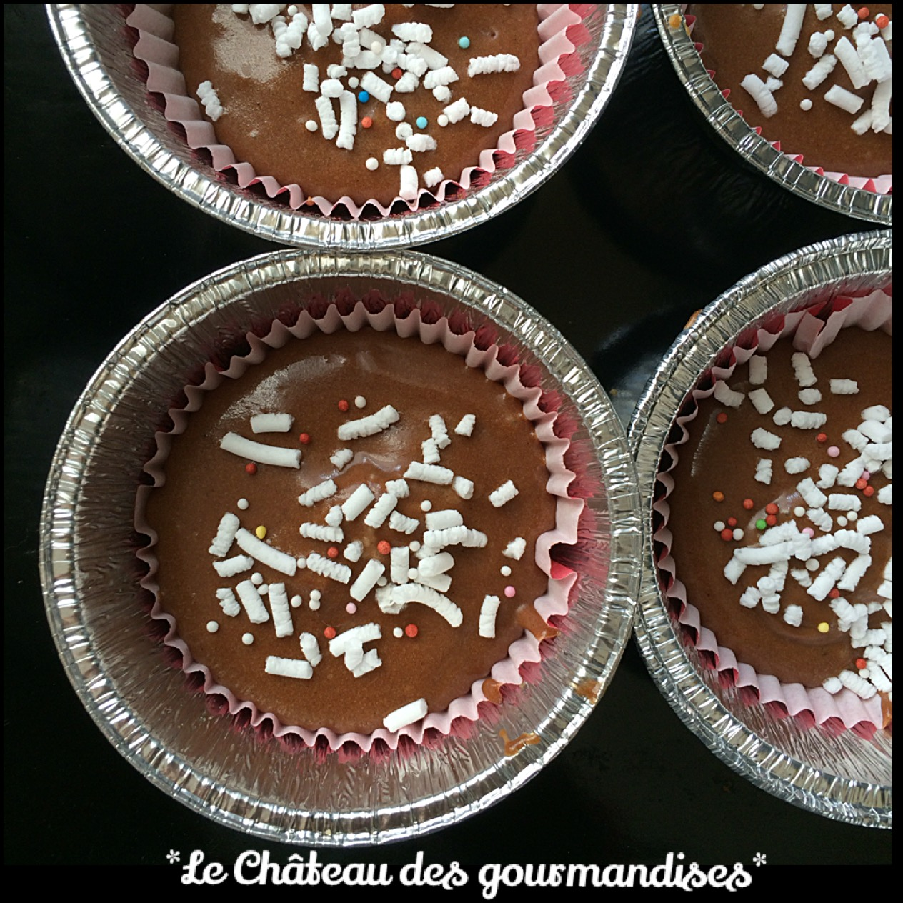 Muffins al cacao con cuore di cocco