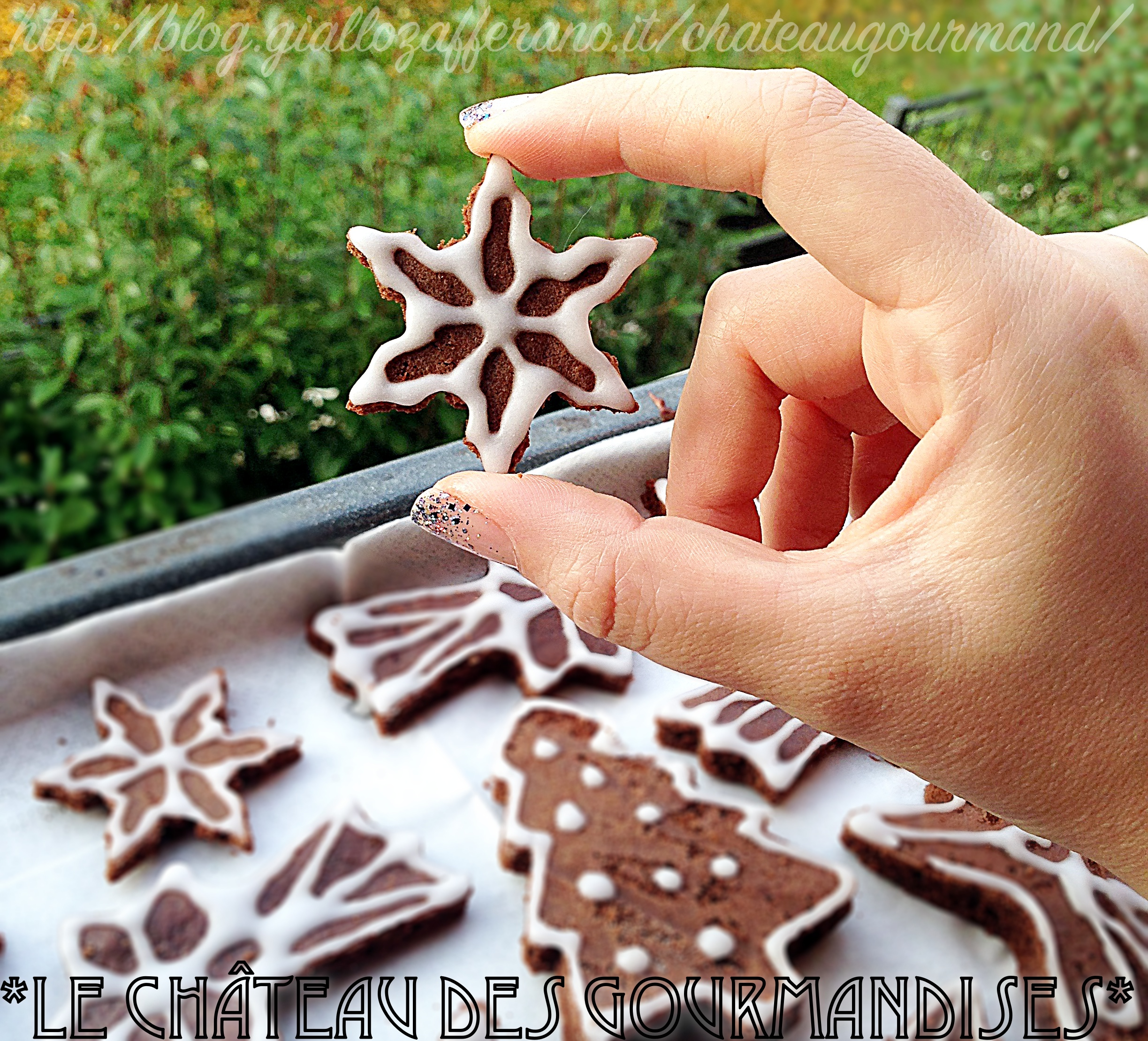 Brownies al cioccolato e caffè di Natale