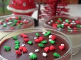Panna cotta natalizia con glassa al cioccolato e cannella