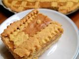 Crostata alla ricotta e amaretti con pasta frolla all'olio
