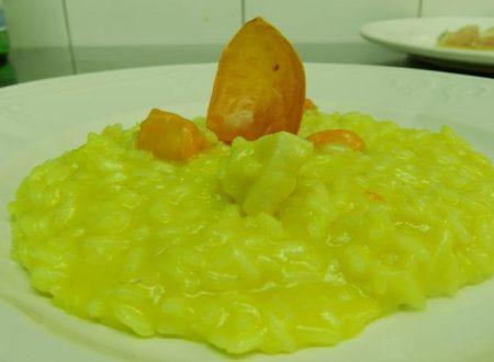 Risottino con crema di peperoni gialli e capesante