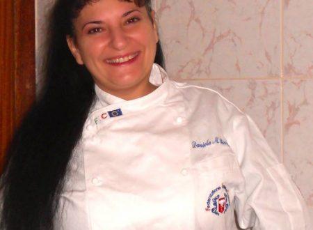 Ricetta regalata dall'Amica Daniela Mariposa Perrone: Tranci di salmone grigliati con laccatura al miele di limoni sorrentini, su creme di zucchini e di patate montate