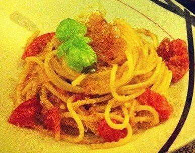 spaghetti alla bottarga rivisitata