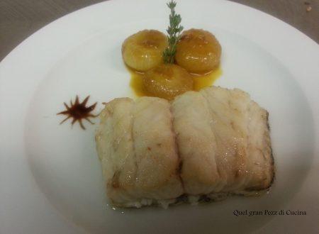 Filetto di Cernia con cipolline all'arancia