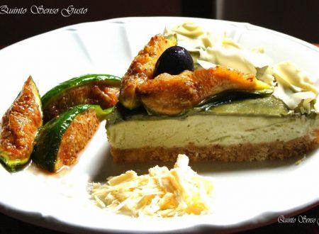 Ricetta concessa dall'Amica Ida Ladiana dal suo blog Quinto Senso Gusto: Cheesecake ai fioroni caramellati e crema di pistacchio di bronte ( senza cottura )