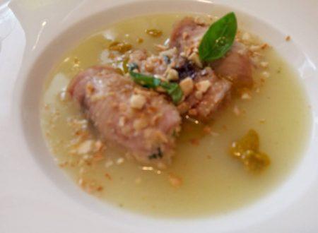 Ricetta regalata dall'Amica Rosaria Spadaro: involtini di pesce spada, con arancio e mandorle tostate.