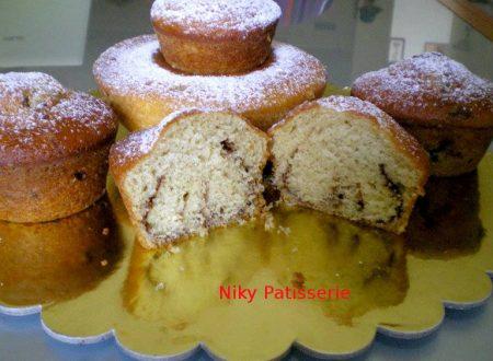 Ricetta regalata dall'Amica Nicol Semeraro: Muffin con yogurt caffè e gocce di nutella