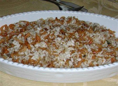 Risotto con la Psina, un gustoso piatto mantovano.