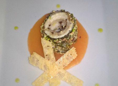 Filetto di sarago con panatura croccante in salsa all'arancia di Danilo Benigno