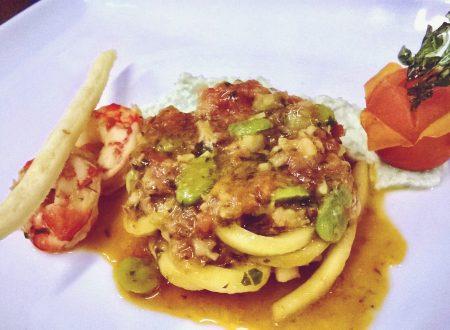 Tornacchioli con fave e gamberoni di Alessandro Leonardi
