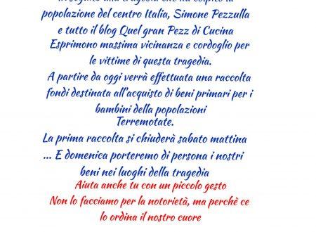 Raccolta fondi Terremoto Centro Italia… Dona un piccolo gesto… Uniti si Vince…