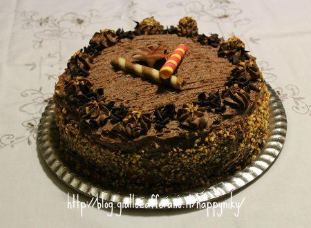 Torta gianduia e cioccolato di Nicol Semeraro