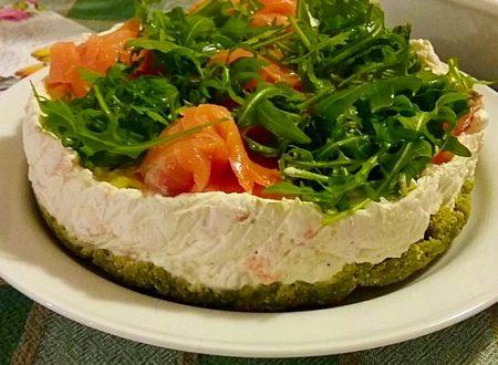 Cheesecake salmone affumicato e rucola di Marcella Vago
