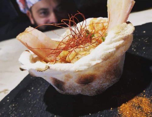 cotiche e fagioli a modo mio in piatto di pinsa romana