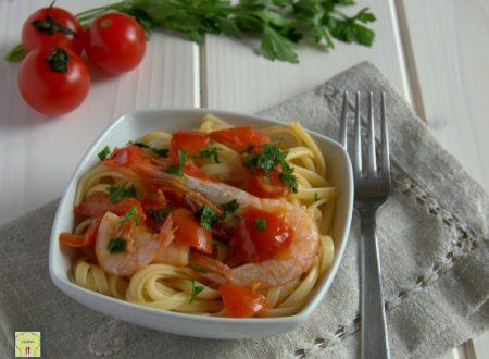 Linguine pomodorini e gamberetti
