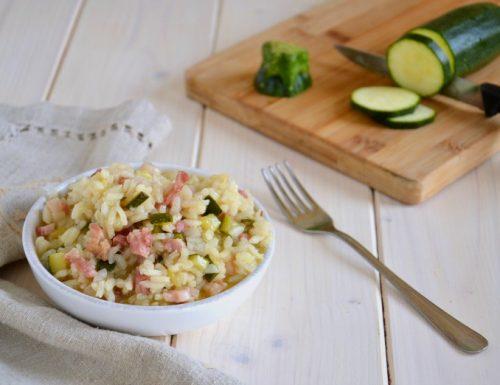 Risotto zucchina e pancetta