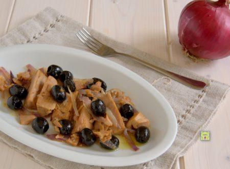 Tonno olive e cipolla rossa, ricetta salvacena