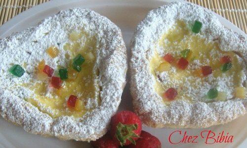 Crostatine alla ricotta e macedonia candita