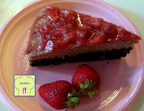 Torta golosa fragole cocco mascarpone e nutella