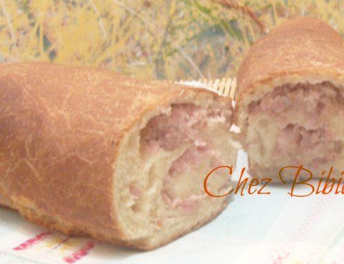 Rotolo di pasta di pane ai due prosciutti