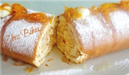 Rotolo con crema di arancia e burro