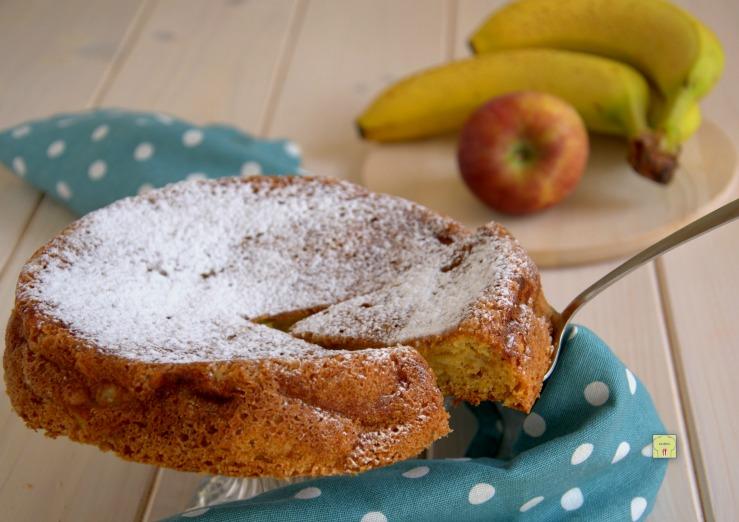 torta morbida mele e banana