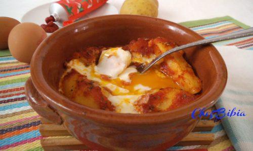 Patate in umido con uova