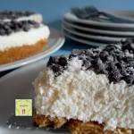cheesecake cocco e gocce di fondente