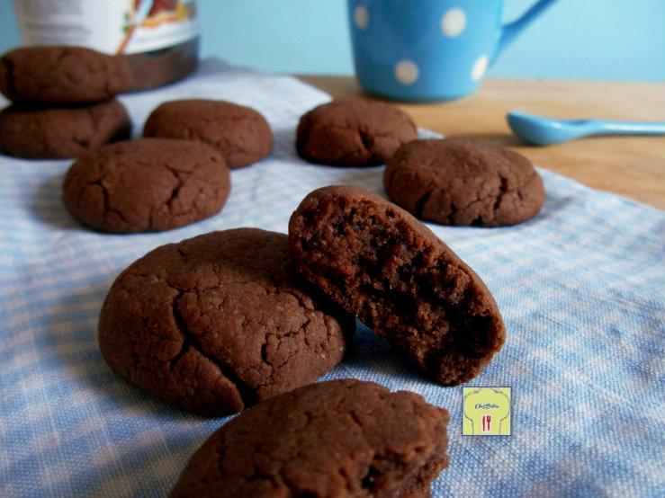 abbastanza Biscotti alla nutella, con 3 ingredienti in 15 minuti | Chez Bibia MZ57