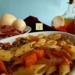 pasta con zucca e prosciutto 1