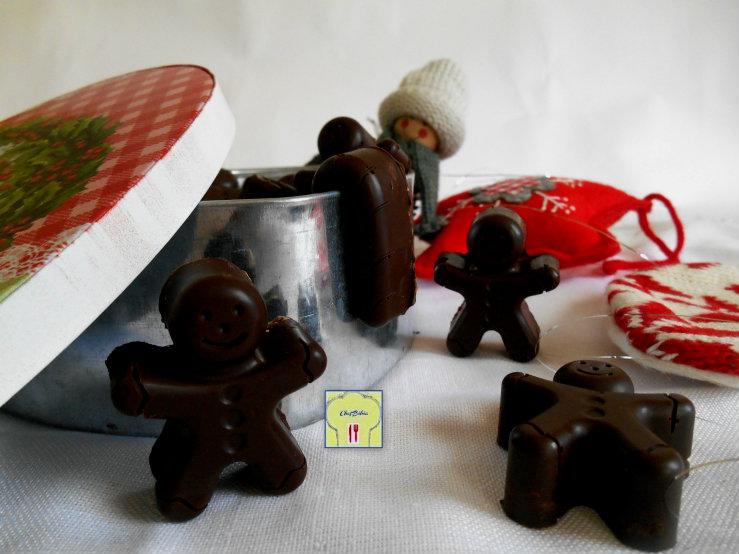 Cioccolatini natalizi arancia e nocciole