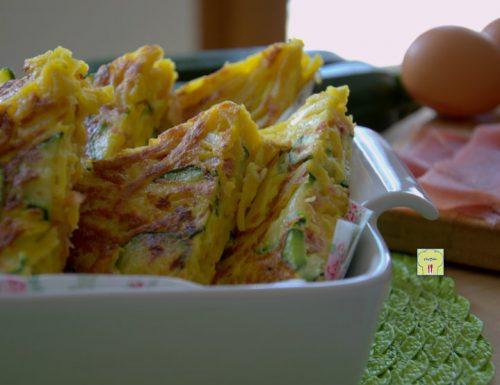 Frittata di tagliolini zucchine e speck