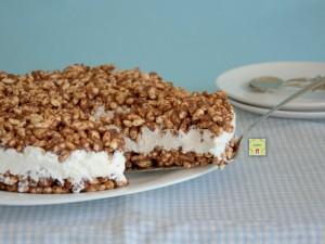 torta di riso soffiato nutella e panna