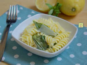 pasta fredda limone e basilico