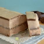 mattonella fredda wafer e doppio cioccolato