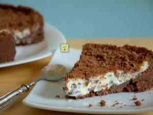 sbriciolata fredda cioccolato e mascarpone