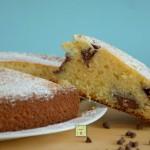 torta nua con crema al cioccolato fondente