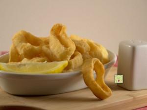 anelli di calamaro fritti