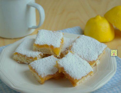 Lemon bars, deliziosi dolcetti al limone