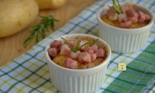 Souffle' di patate e pancetta affumicata